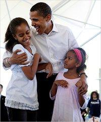 奥巴马和他的孩子