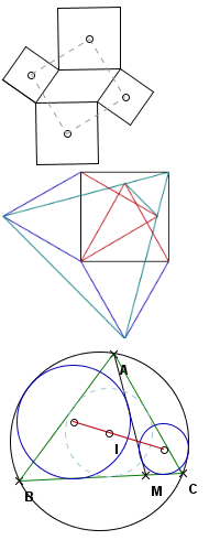 正方形的中心点所组成的四边形为正方形