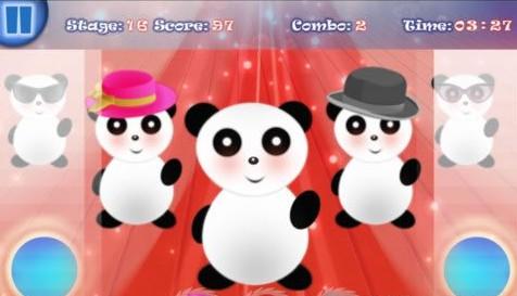 如果玩家操作完美熟练,小熊猫的舞蹈动作会变的越来越好玩.