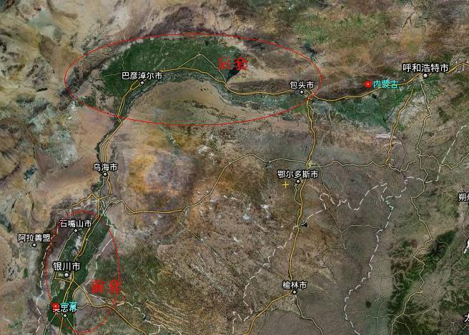 宁夏风景点地图