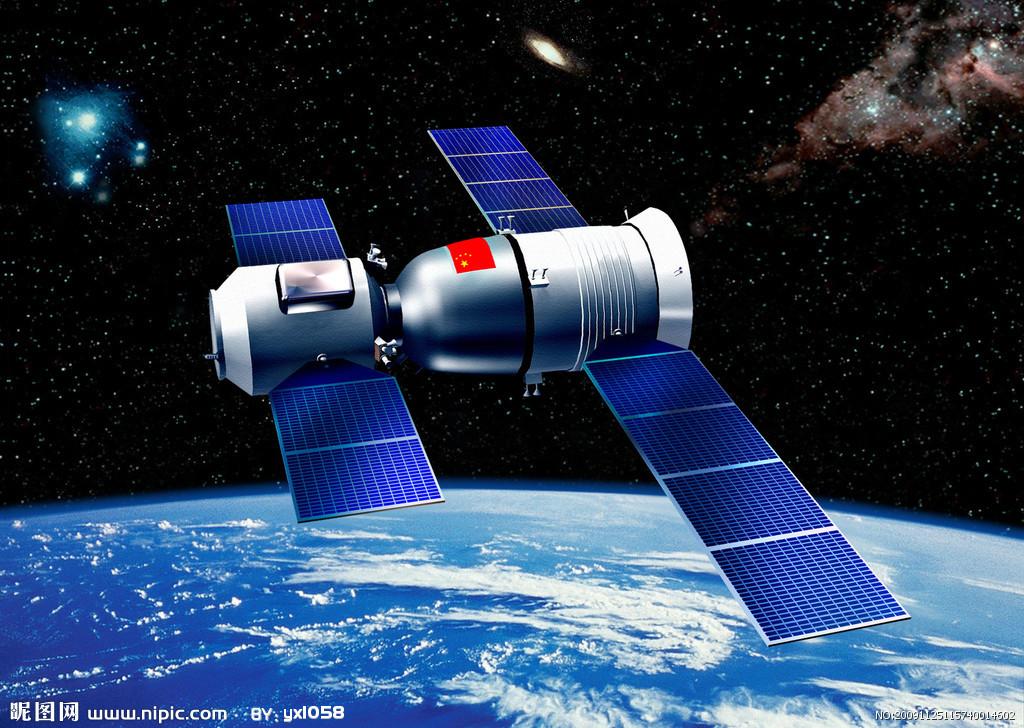 神舟六号飞船在太空圆形轨道中飞行115.