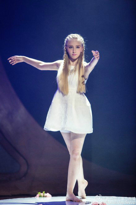 在丹麦皇家芭蕾舞蹈学院表演队表演的两分钟时间里