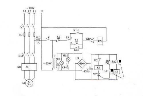 jyb714液位继电器和接触器接线图