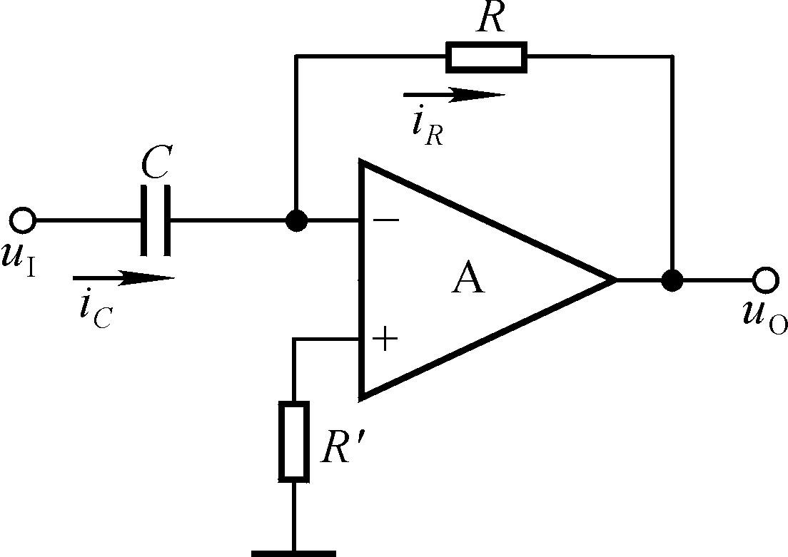 (7)基本微分运算电路 将积分运算电路中的反相端