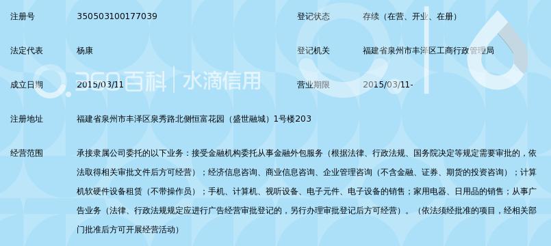 深圳前海达飞金融服务有限公司泉州分公司_3
