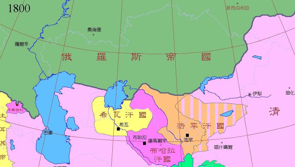 把哈萨克地区划分为若干行政区