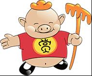 一对招财的大耳朵……猪八戒网卡通形象处处无不体现其创意服务交易平图片