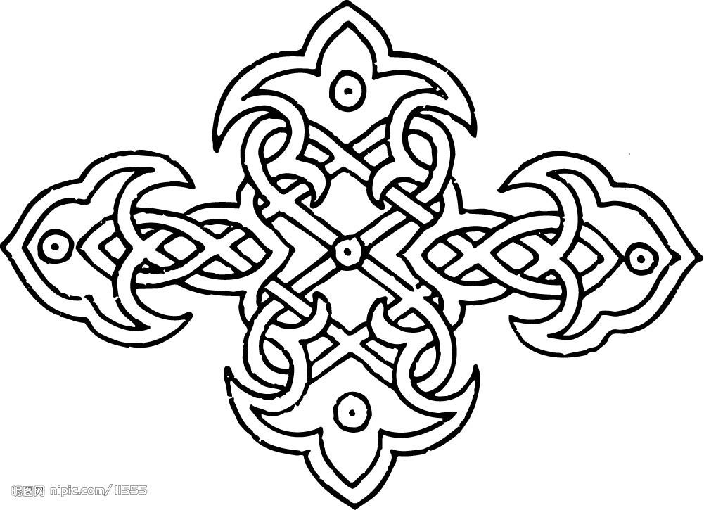 提花织物上的花纹图案