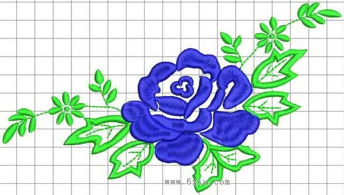 柳树绣花矢量图