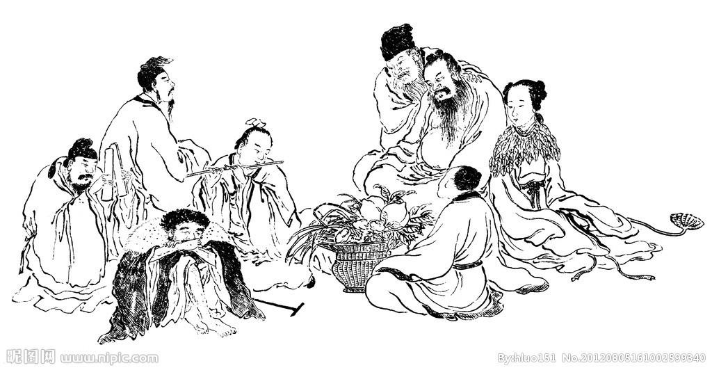 手绘中国传统文化
