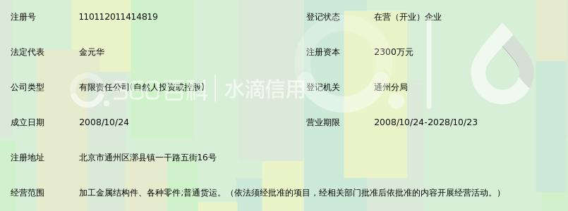 北京中联信达金属结构有限公司