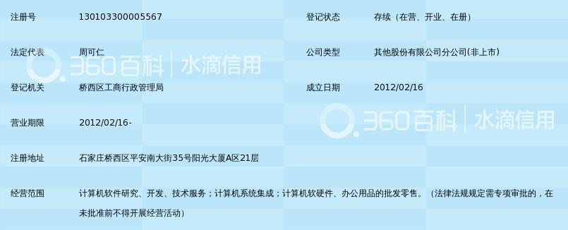 税友软集团股份有限公司河北分公司