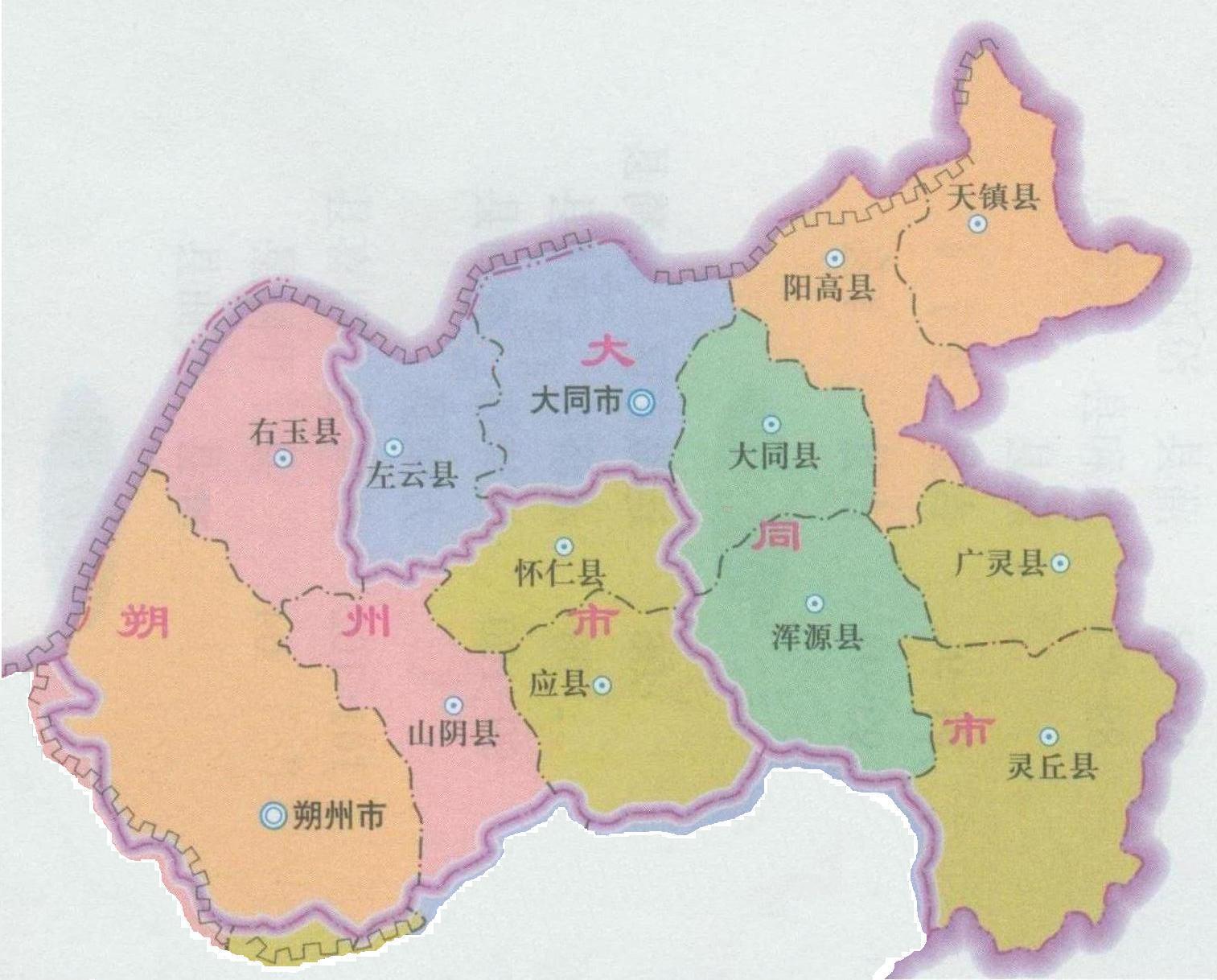 雁北专区地图