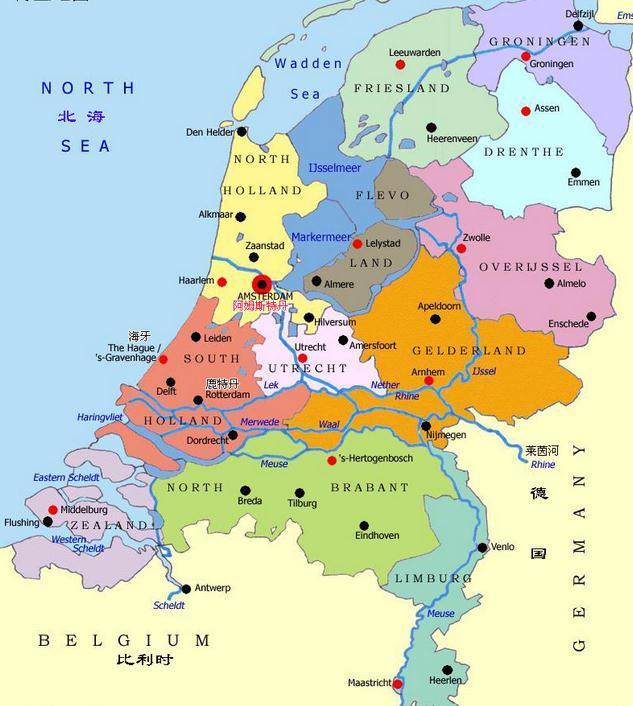西欧地图简略手绘板