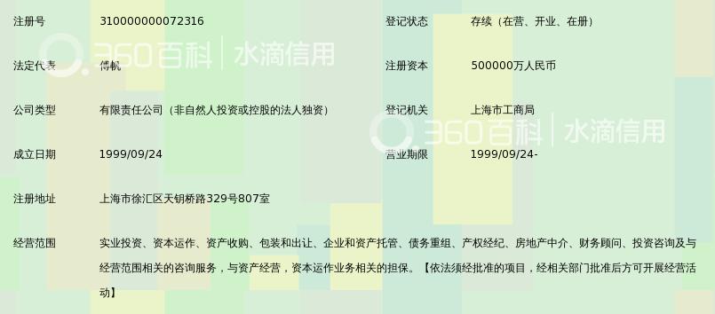 上海国有资产经营有限公司_360百科