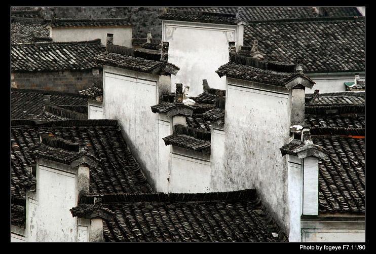 皖南民居风景画