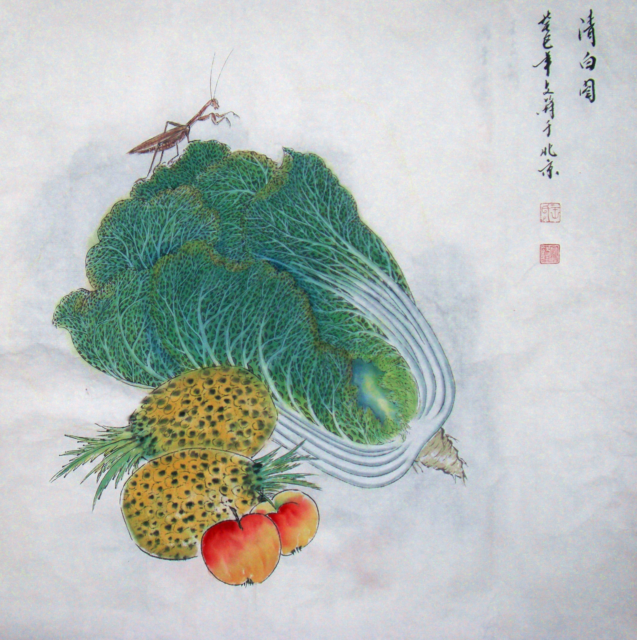 中国工笔画线描
