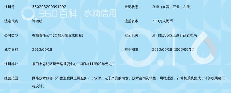 厦门中易智联网络科技有限公司_360百科