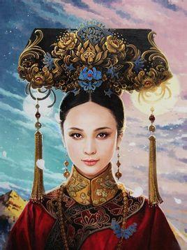 里面的女主角马尔泰若曦这个历史人物大概就是纯元皇后的原型.   如