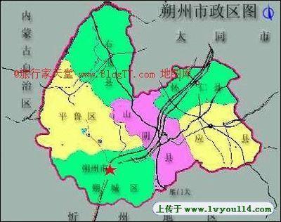 朔州行政地图