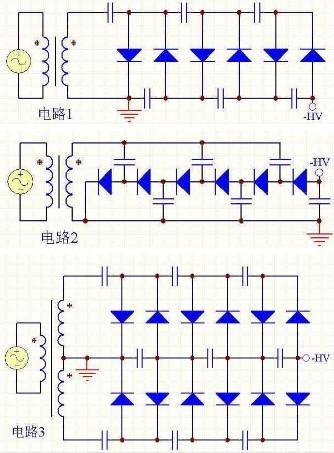 主电路多用硅整流二极管和晶闸管